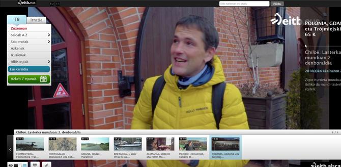 Aktywny Gdańsk w baskijskiej telewizji