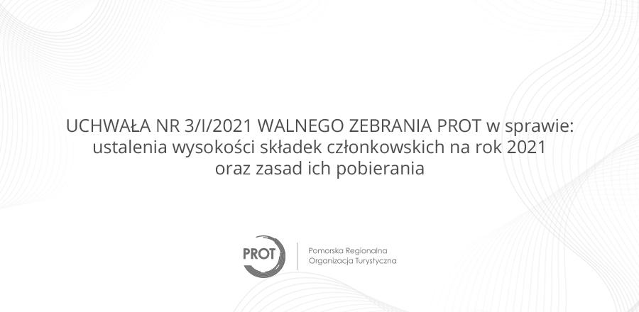 Uchwała ws ustalenia wysokości składek członkowskich na rok 2021 oraz zasad ich pobierania